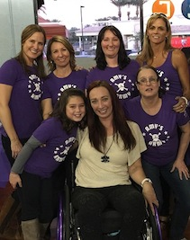 "Six-time Olympic gold medal winner Amy Van-Dyken with ""Amy's Army."""
