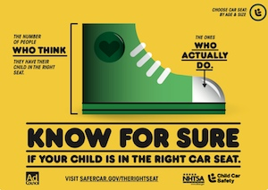 Postcard promotion for Child Passenger Safety Week (Sept. 15 to 21).