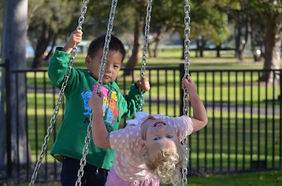 Kids Tire Swing
